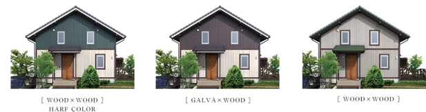 WOOD×WOOD HARF COLOR GALVA×WOOD WOOD×WOOD